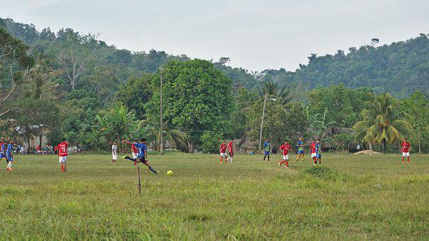 Soccer, Football, Player, Sport, Kick, Village, Field
