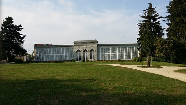 Telč, Czechia, Unesco, Park, Chateau, Greenhouse