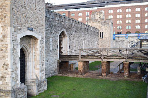 Tower, London, United Kingdom, Prison, Lawn, Fortress