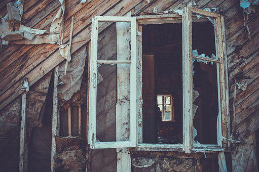 Window, House, An Abandoned, Building, Architecture