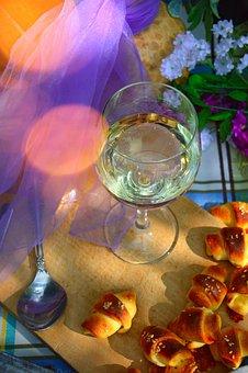 Celebration, Glass, Flower, Drink, Wine, Romantic