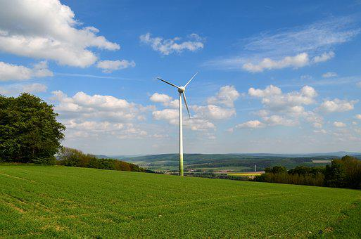Pinwheel, Wind Energy, Zerspargelung, Grass, Nature