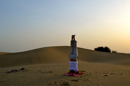 Sand, Desert, India, Yoga, Jaisalmer, Amiyoguis, Blue
