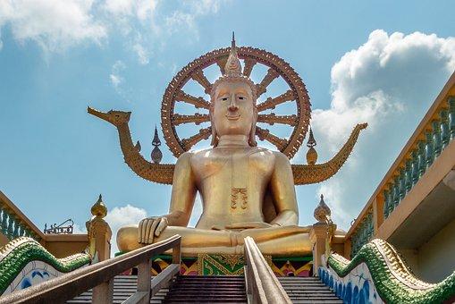 Travel, Sculpture, Sky, Statue, Buddhism, Buddha