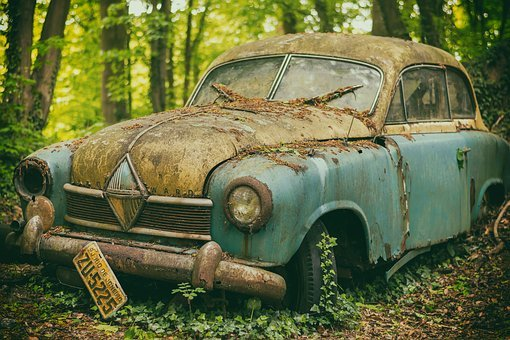 Cemetery, Auto, Last Calm, Pkw, Resting Place, Oldtimer