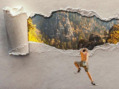 Climb, Mountaineering, Climbing Sport, Climber