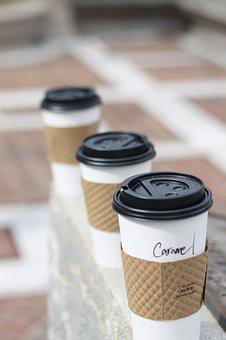 Coffee, Three, Coffee Cups, Java, Outside, Drink