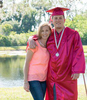 Mother And Son, People, Person, Graduation, Family