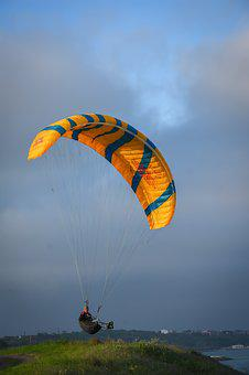 Sky, Parachute, Glider, Flight, Flying, Air, Adventure