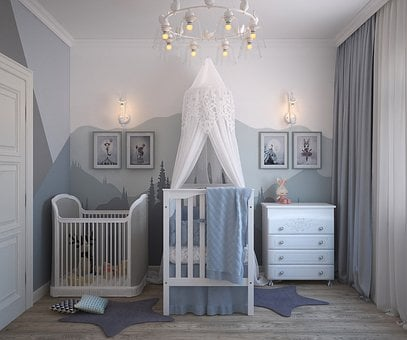 Children, Room Newborn, The Cradle, For Baby, Furniture