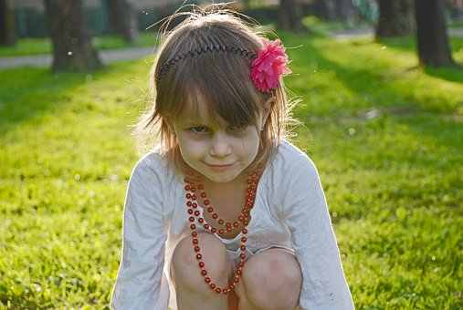 Nature, Summer, Baby, Grass, Lovely, Girl, Happiness