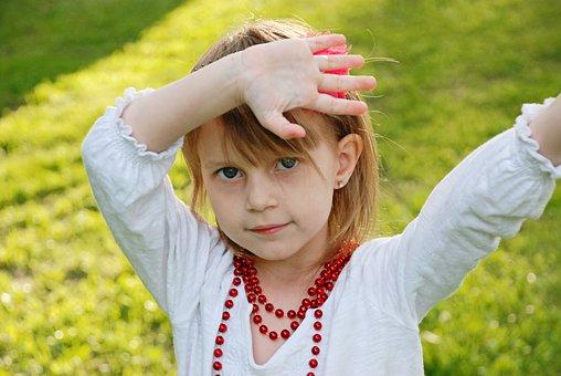 Nature, Summer, Grass, Outdoors, Joy, Hands, Girl