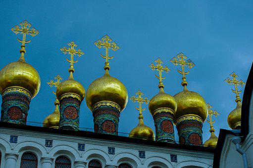 Orthodox, Religion, Architecture, Gold, Cathedral