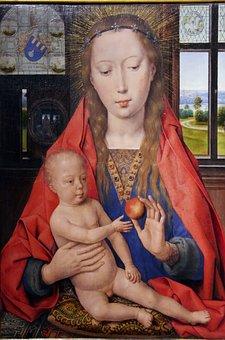Bruges, Memling, St-jean, 1487, Virgin, Painting, Oil