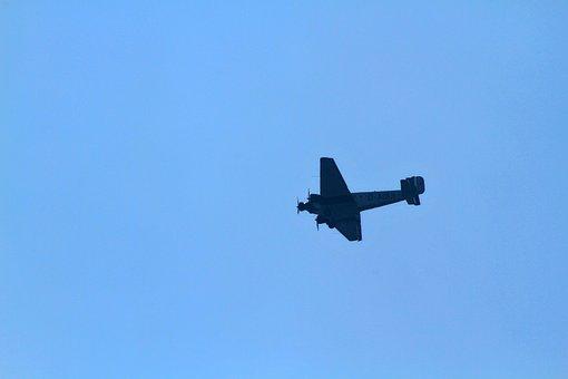 Aircraft, Military, Flight, Ju-52, Lufthansa, Old