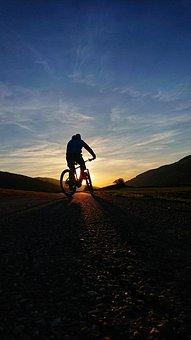 Human, Sunset, Adventure, Sky, A, Sport, Nature