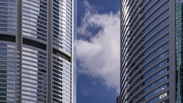 High, Building, Skyscraper, Commercial, Glass, Office