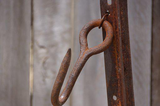 Wood, Rusty, Old, Hook, Iron, Rustic, Hanging