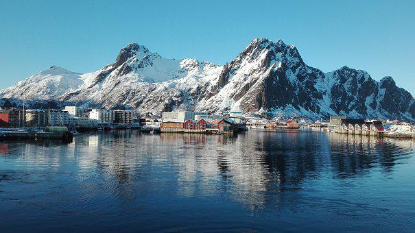 Norway, Panoramic Image, Fjord