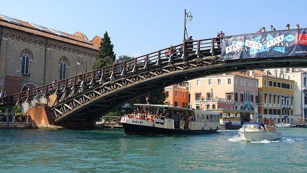 The Body Of Water, Travel, Bridge, River, Transport