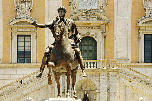 Italy, Rome, Jumper, Bronze, Art, Statue, Equestrian
