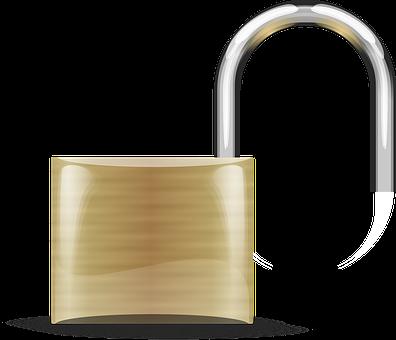 Padlock, Unlocked, Lock, Safety, Protection, Icon