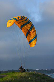 Parachute, Sky, Air, Flying, Adventure, Flight, Wind