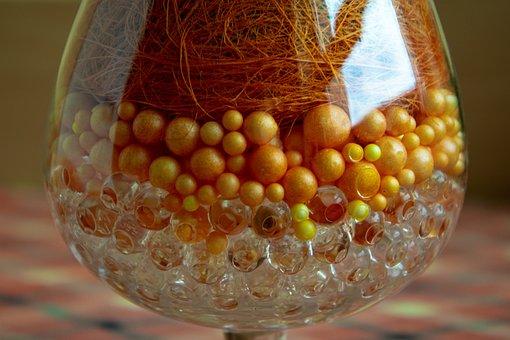 Glass, Sphere, Balls, Container, Orange