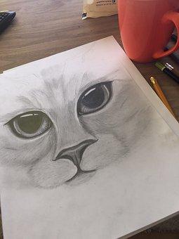 Figure, Sketch, Szkicowac, To Draw, Pencils