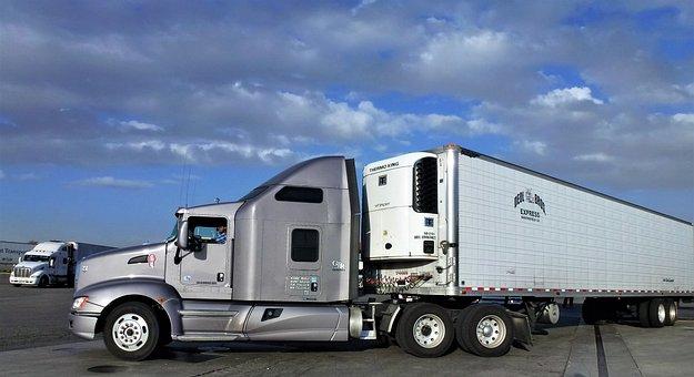 Transport, Truck, American, Trailer, Automobile
