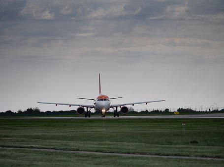 Transport, Aircraft, Airport, Sky, Before The Start Of
