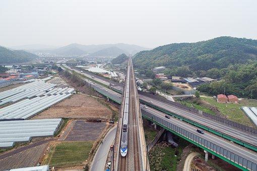 Transport, Road, Travel, Transportation, Ktx, Train