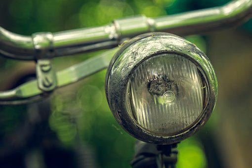 Bike, Lamp, Wheel, Old, Cycle, Close, Detail, Retro