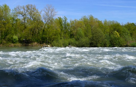 River, Current, Whirlpool, Agitated, Rhône, Water