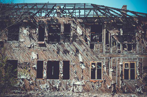 An Abandoned, Building, House, Architecture, Zabroski