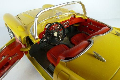 Chevrolet, Corvette, 1957, 1x18, Model Car, Bburago