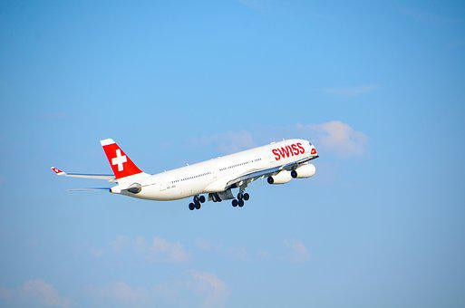 Aircraft, Jet, Swiss, Airbus, A340, Travel, Flight