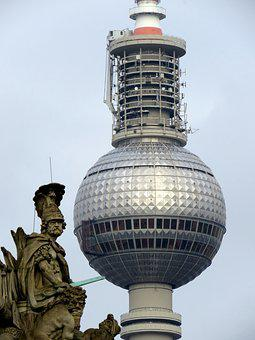 Tv Tower, Berlin, Alexanderplatz, Capital, Landmark