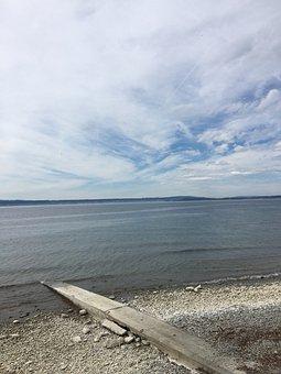 Waters, Nature, Beach, Sea, Sky, Lake Constance, Hagnau