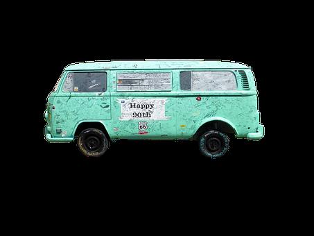 Transport, Van, Wreck, Old Vehicle, Car, Blue, Antique