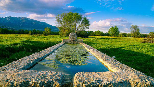 Nature, Body Of Water, Lawn, Summer, Sky, Landscape