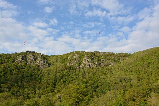 Panoramic Views, Cliff Clécy Normandy, Site Paragliding