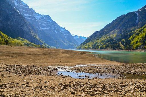 Drought, Dry Season, Dehydrated, Glärnisch, Reservoir