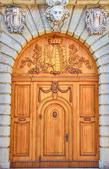 Door, Architecture, Dresden, Ornament, Building, Input