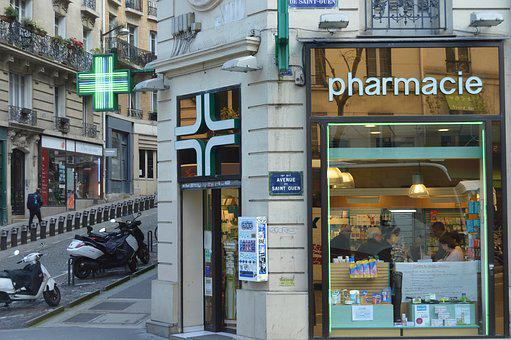 France, Paris Pharmacy, Streets