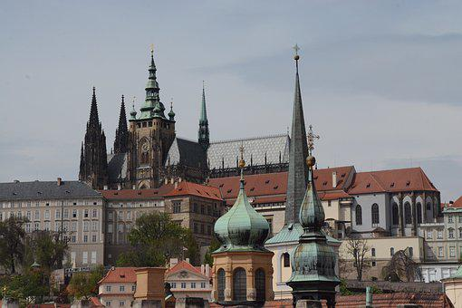 Prague, Towers, City, Church, Heaven, Building