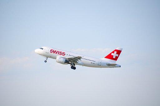 Aircraft, Jet, Swiss, Travel, Flight, Holiday, Holidays