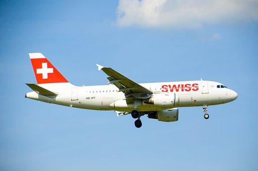 Aircraft, Jet, Swiss, Airbus, A319, Travel, Flight