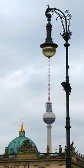 Lantern, Tv Tower, Lamp, Street Lamp, Verschnörkelt