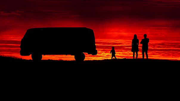 Cut, Sunset, Backlit, Panoramic, Evening, Landscape